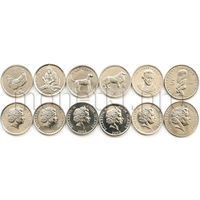 Острова Кука 6 монет 2000-2003 годов. Животные