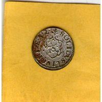 Ливония 1652г. солид. AU