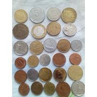 Часть б/у монет Европы