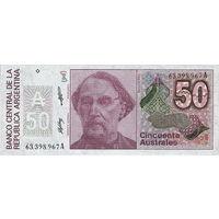 Аргентина 50 аустралей 1985-1990 гг.  UNC