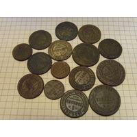 Кучка царских монет в родной патине! одним лотом