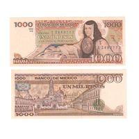 Банкнота Мексика 1000 песо 1984 UNC префикс ZZ