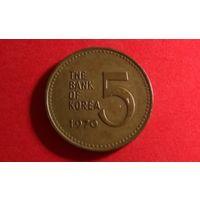 5 вон 1970. Южная Корея.