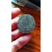Редкая монета 6 мариенгрошей 1/6 таллера 1697.оригинал!с рубля!
