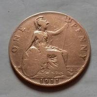 1 пенни, Великобритания 1911 г., Георг V