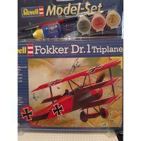 Сборная модель Ревел Fokker Dr.1 Triplane, масштаб 1:72,подарочный набор с аксессуарами для сборки