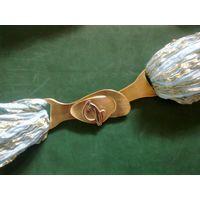 Пряжка пряга с кошкой на ремень, сумку или для декора, латунь