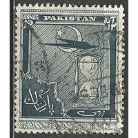 Пакистан. Авиа. Самолёт. Песочные часы. 1951г. Mi#62.