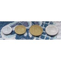 Франция 1968 года 1, 5, 10 сантим; 1/2 франка. АU. Гарантия низкой цены!