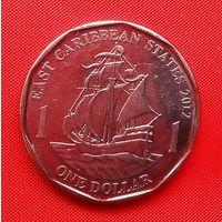 51-29 Восточные Карибы, 1 доллар 2012 г. Единственное предложение монеты данного года на АУ