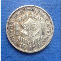 Южная Африка Британский доминион 6 пенсов 1950 Георг VI тип 2