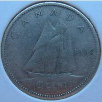 Канада 10 центов 1964 г. Корабль. В холдере