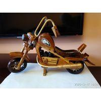Интерьерное изделие из дерева Мотоцикл Harley Davidson.