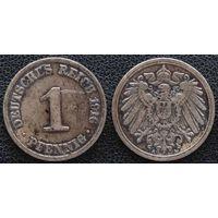 YS: Германия, Рейх, 1 пфенниг 1916A, KM# 10 (1)