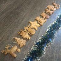 Деревянные ёлочные игрушки, дуб