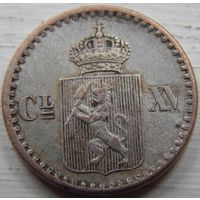 18. Норвегия под Шведами 2 скиллинга 1870 год*
