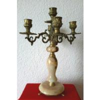 Каминный подсвечник,канделябр на  5 свечей.Латунь,oпух  33 см