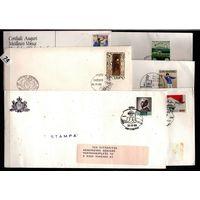 Сан-Марино - 5 конвертов 1 открытка -спорт, арт
