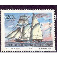 Аргентина. День флота. Парусник