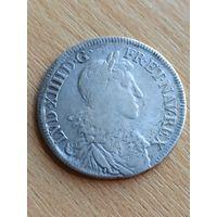 Пол экю 1666 год, король Людовик XIV, Франция. Акция! Только 4 дня!