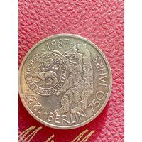 10 марок ФРГ серебро 0,625 Berlin 750 Jahre.67.