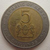 Кения 5 шиллингов 1997 г. (g)