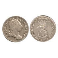 Великобритания. 3 пенни 1762 г.