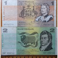 1+2 доллара 1979-85 г.г. Австралия #P42d+#P43e