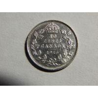 Канада 10 центов 1916г