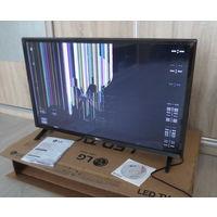 """Телевизор ЖК """"LG"""" 32LV340C, был на гарантии, новый -2 дня поработал... упал...(не повезло), модель 03.2018 года, повреждена матрица, остальное работает исправно."""