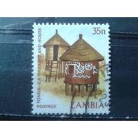 Замбия 1981 Стандарт, традиционные хижины 35п Михель-1,0 евро гаш