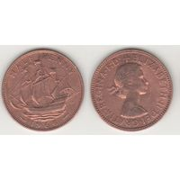 Великобритания _km896 1/2 пенни 1966 год (f15)