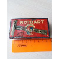 Ретро коробка жестяная СССР от бритвы ,ROTBART'