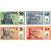 Нигерия, 4 банкноты, полимер, UNC