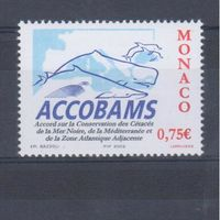 [432] Монако 2002. Фауна.Охрана китов.