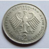 ФРГ 2 марки 1992 г