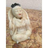 Статуэтка - кукла Китайский болванчик Гейша качает головой, колкий пластик. СССР 1950-е годы