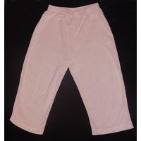 На 2-3 года штанишки велюровые, розовые, мягкие