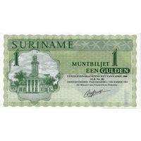 Суринам, 1 гульден, 1984 г., UNC. Не частый
