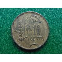 Литва 10 центов 1925 год.