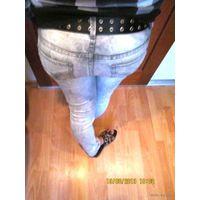 Классные вареные джинсы р. 42-44