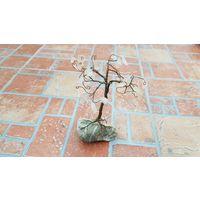 Оригинальная композиция Дерево из камня / для интерьера / высота 12 см