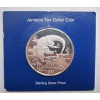 Ямайка, 10 долларов, 1981, серебро, пруф