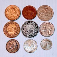 Монеты разных стран мира с рубля. 2 лот.