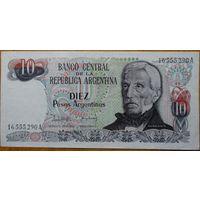 Аргентина 10 песо. 1983-1984 гг