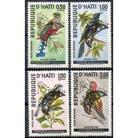 Космос Птицы Гаити 1969 год серия из 4-х марок с надпечаткой