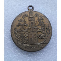 Гёрлиц. Памятная медаль огороде. Германия. Латунь. #0032