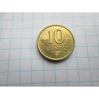 ЛИТВА 10 ЦЕНТОВ 1997 ГОД