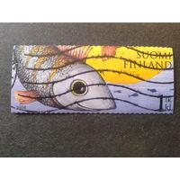 Финляндия 2008 рыба, марка из буклета