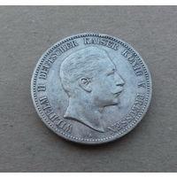 Германская империя/Пруссия, 5 марок 1904 г., серебро, Вильгельм II (1888-1918)